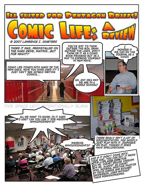 Cartoon: illustrated review of Comic Life